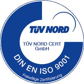 Logo Tüv Nord - ISO 9001: Qualitätsmanagement zur Sicherung Ihres Erfolgs